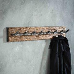 Portemanteau Anais 8 crochets industriel - bois dur