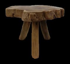Tabouret Abstract - ø40-45 cm - teck