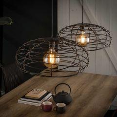 Hanglamp 2x Ø50 Disk spinn - Zwart