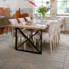 Eettafel Kensington 180x100 industrieel - bruin/zwart