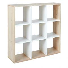 Roomdivider Eidur 105cm - natuur/wit