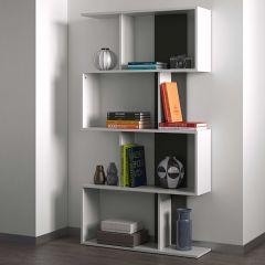 Boekenkast Sigma - wit/zwart