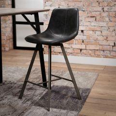 Set de 4 chaises de bar Zigi - noir