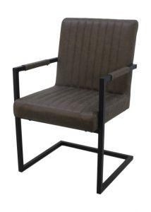 Chaise de salle à manger Vegas - vert armée - ecoleder / métal