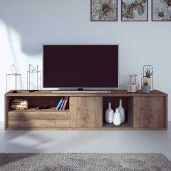 Tv-meubel Frame 217cm - donkere eik