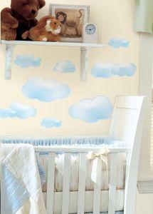 RoomMates muurstickers - Wolken