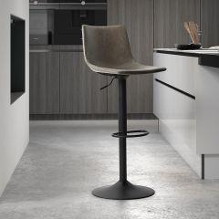 Set van 2 verstelbare barstoelen Fontana - grijs