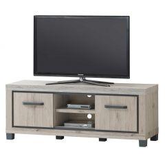 Meuble tv Dirk 155cm 2 portes - gris