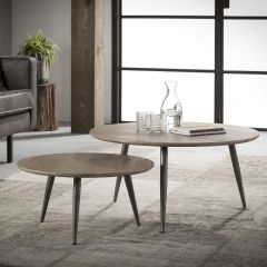 Lot de 2 tables basses Mirthe