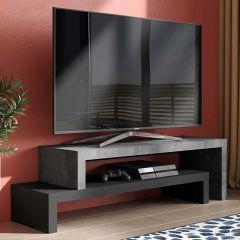 Tv-meubel Cliff - beton/zwart