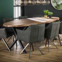Table à manger ovale Dahlia 240cm - noyer