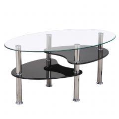 Glazen salontafel Gordon - zwart