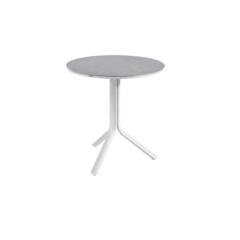 Ronde plooibare tuintafel Bahia - wit/grijs