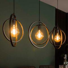 Hanglamp Archie 3 lampen - antraciet