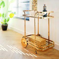 Trolley Exo - goud/glas