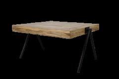 Vierkante salontafel - medium - mangohout / ijzer