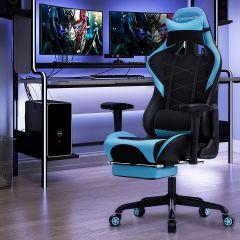 Chaise gamer Linx - noir/bleu