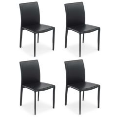 Set van 4 eetkamerstoelen Motif - zwart
