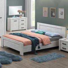Bed Elvira 180x200 - witte eik