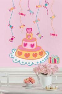 RoomMates muurstickers - Verjaardagstaart