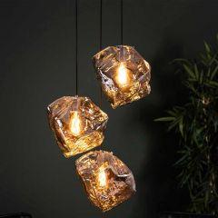 Hanglamp Rock 3 lichtbronnen - verchroomd