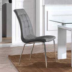 Lot de 2 chaises Merlino - gris
