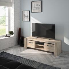 Tv-meubel Jacob 2 deuren 160cm - lichte Kronberg eik