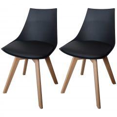 Set van 2 stoelen Cosmo - zwart