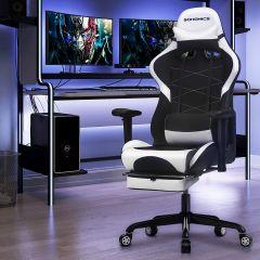 Chaise gamer Linx - noir/blanc