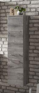 Colonne Stivan 30cm 2 portes - chêne gris
