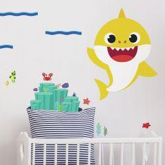 XL muursticker Baby Shark