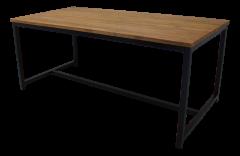 Table de repas - 180x90 cm - teck  /  fer