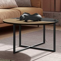 Table basse Sonata - noyer/marbre noir