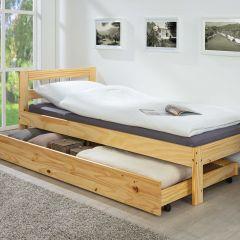 Tiroir de lit 200cm pour lits Interlink - naturel