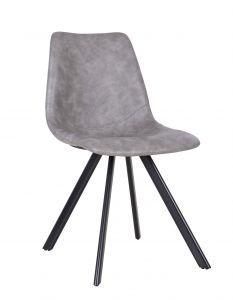 Lot de 2 chaises Emmy - gris