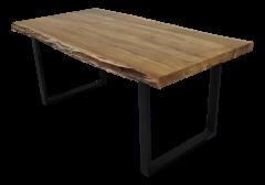 Table de repas SoHo - 250x100 cm - acacia / fer