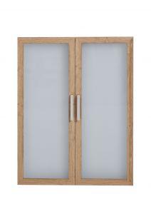 2 deuren Gabi glas - oude eik