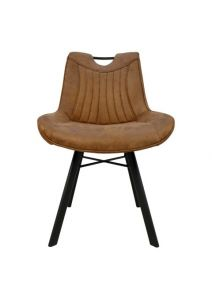 Chaise de repas Detroit - cognac
