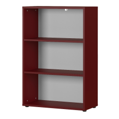 Lage boekenkast Osmond 80cm - rood