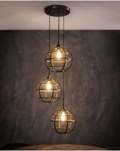 Hanglamp Globus 3xØ33 getrapt