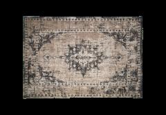 Vloerkleed - katoen - 180x120 cm - grijs / beige