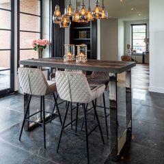 Table de bar Bony 160x80cm - noir/argent
