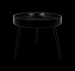Table d'appoint Ventura - ø50 cm - noir - mangue / fer