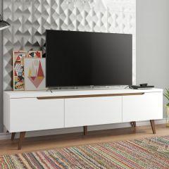 Tv-meubel Infas 180cm met 2 deuren & 1 lade - wit