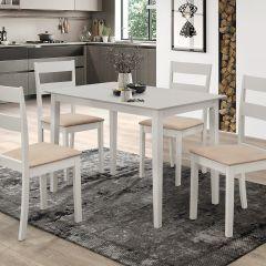 Table et 4 chaises Damir - gris