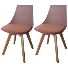 Set van 2 stoelen Cosmo - roze