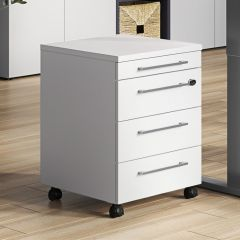 Caisson à tiroirs Osmond 4 tiroirs - gris clair