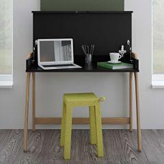 Bureau Aura - zwart/eik