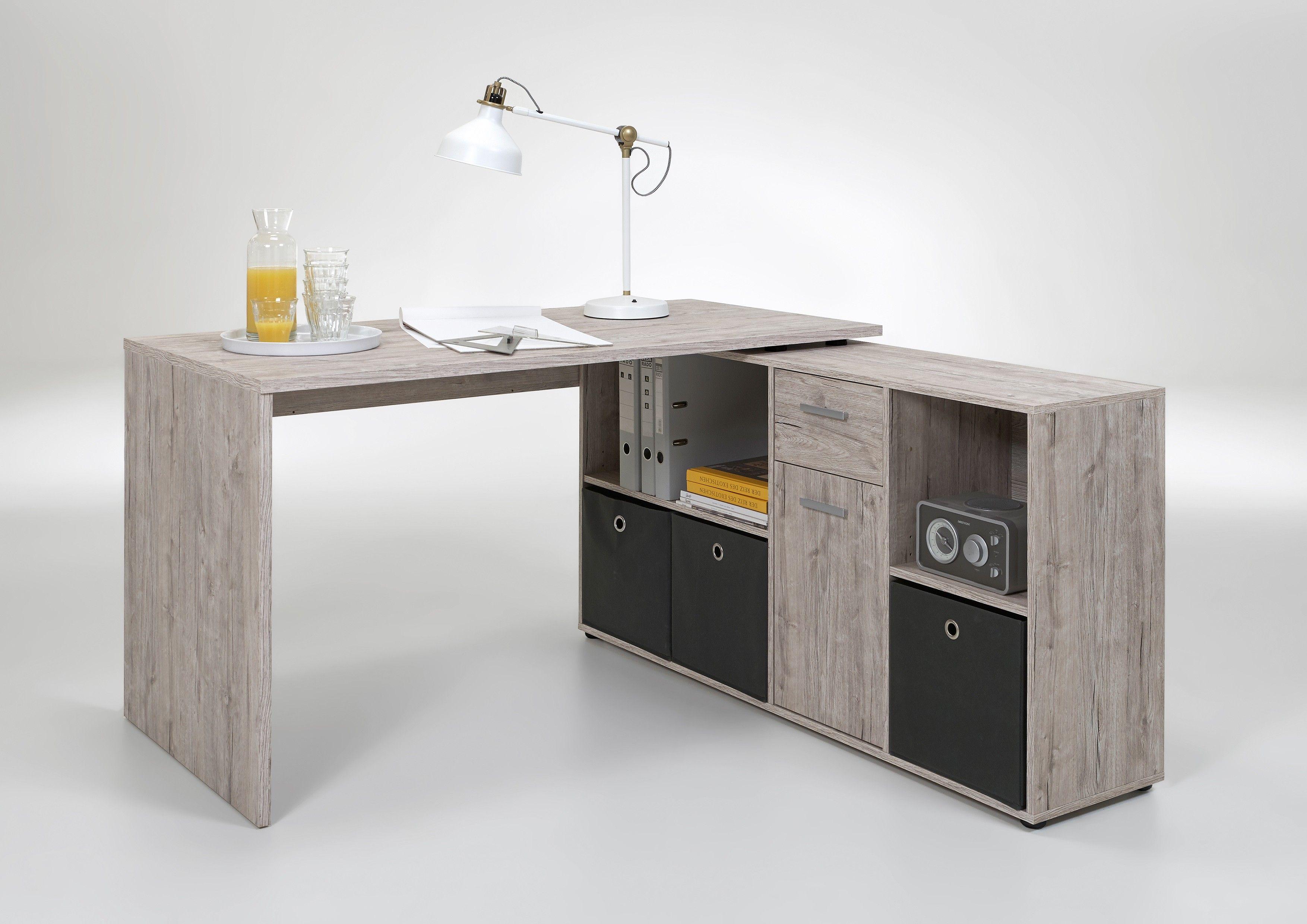 Table A Langer D Angle bureau d'angle lex - chêne gris