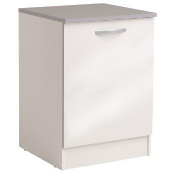 Onderkast Spoon 60 cm met deur - glossy white